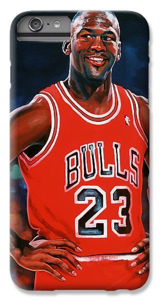 Michael Jordan IPhone 6 Plus Case by Paul Meijering