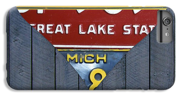 Marquette iPhone 6 Plus Case - Michigan Love Heart License Plate Art Series On Wood Boards by Design Turnpike
