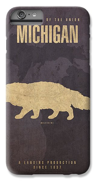 Michigan State Facts Minimalist Movie Poster Art  IPhone 6 Plus Case