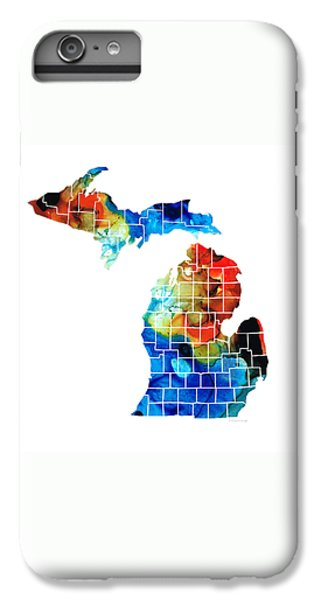 Michigan State Map - Counties By Sharon Cummings IPhone 6 Plus Case