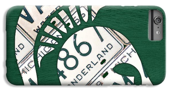 Michigan State Spartans Sports Retro Logo License Plate Fan Art IPhone 6 Plus Case by Design Turnpike
