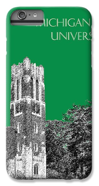 Michigan State University - Forest Green IPhone 6 Plus Case by DB Artist