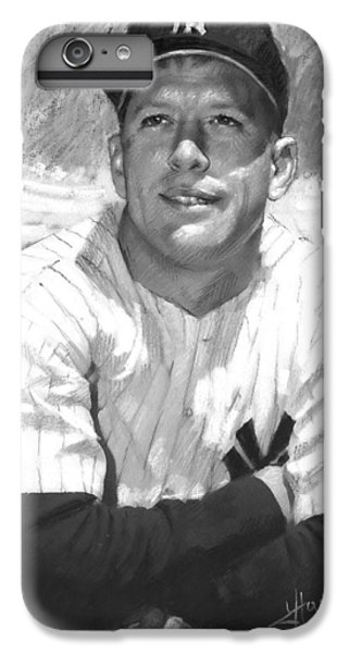 Mickey Mantle IPhone 6 Plus Case by Viola El