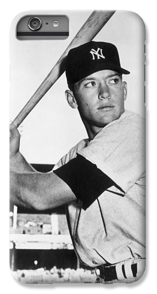 Mickey Mantle At-bat IPhone 6 Plus Case by Gianfranco Weiss