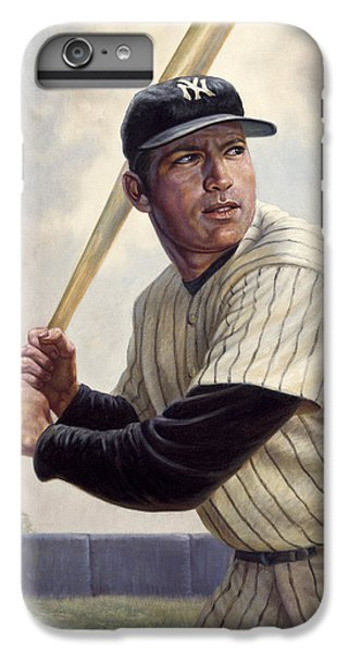 Mickey Mantle IPhone 6 Plus Case by Gregory Perillo