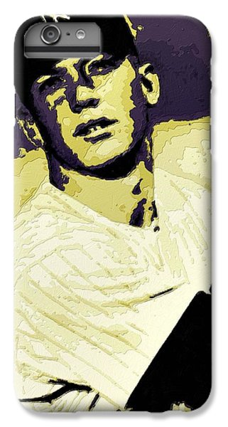 Mickey Mantle Poster Art IPhone 6 Plus Case by Florian Rodarte
