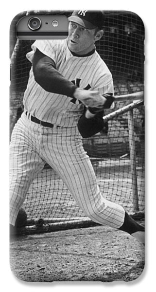 Mickey Mantle Poster IPhone 6 Plus Case by Gianfranco Weiss