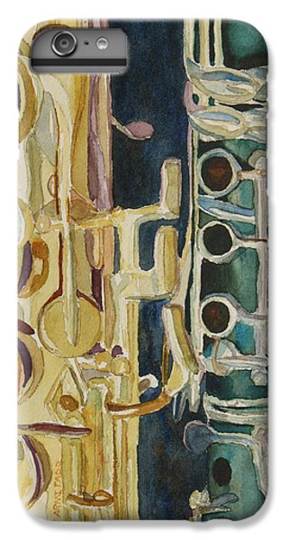 Saxophone iPhone 6 Plus Case - Midnight Duet by Jenny Armitage