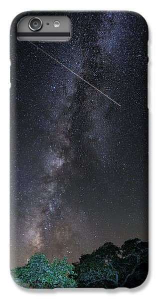 Milky Way Vertical Panorama At Enchanted Rock State Natural Area - Texas Hill Country IPhone 6 Plus Case by Silvio Ligutti