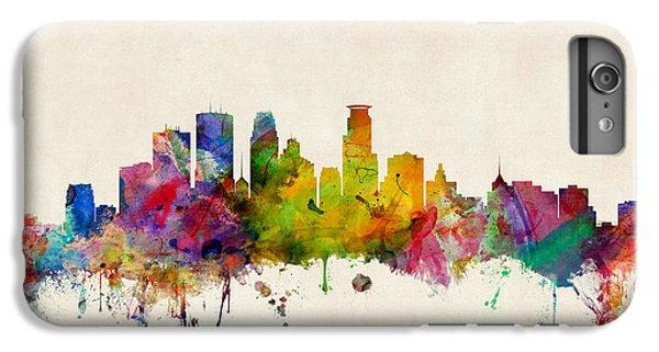 City Scenes iPhone 6 Plus Case - Minneapolis Minnesota Skyline by Michael Tompsett