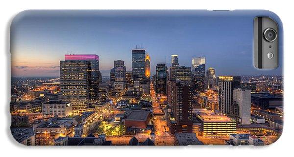 Marquette iPhone 6 Plus Case - Minneapolis Skyline At Night by Wayne Moran