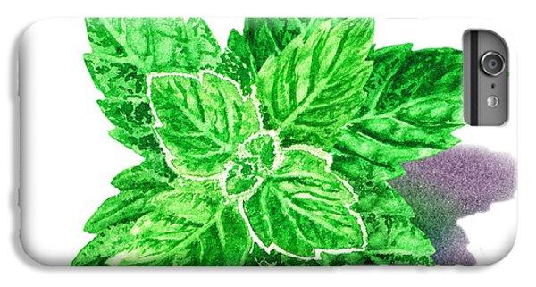 IPhone 6 Plus Case featuring the painting Mint Leaves by Irina Sztukowski