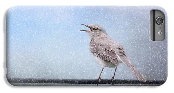 Mockingbird In The Snow IPhone 6 Plus Case by Jai Johnson