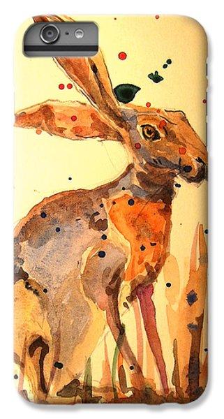Rabbit iPhone 6 Plus Case - Modern Hare by Juan  Bosco