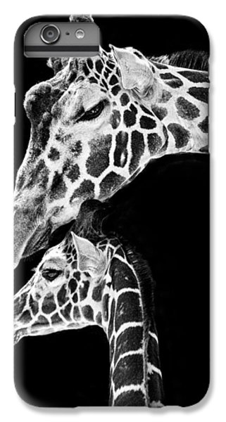 Mom And Baby Giraffe  IPhone 6 Plus Case by Adam Romanowicz
