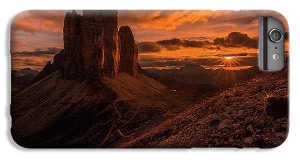 Mountain Sunset iPhone 6 Plus Case - Monumental Strike by Andreas Agazzi