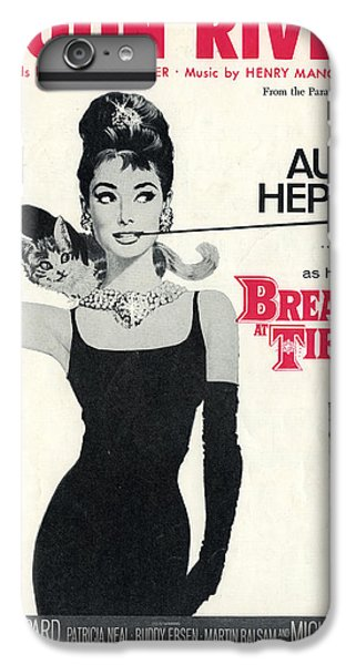 Audrey Hepburn iPhone 6 Plus Case - Moon River by Georgia Fowler