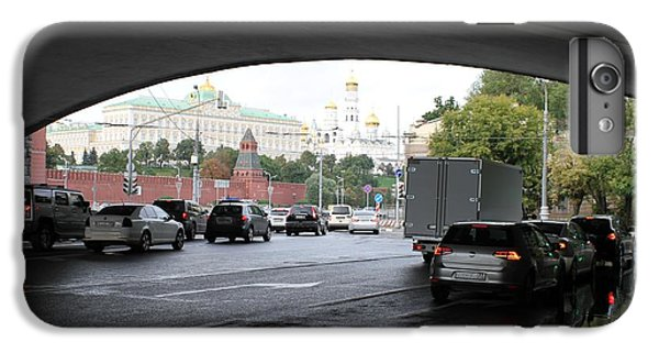 Moscow Kremlin Seen Through The Archway Of Greater Stone Bridge In Moscow I IPhone 6 Plus Case by Anna Yurasovsky