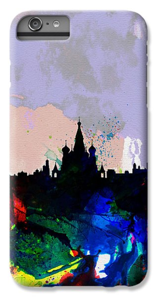 Moscow Watercolor Skyline IPhone 6 Plus Case by Naxart Studio