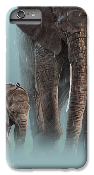 Elephant iPhone 6 Plus Case - Mother And Child by Aaron Blaise
