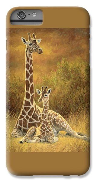 Mammals iPhone 6 Plus Case - Mother And Son by Lucie Bilodeau
