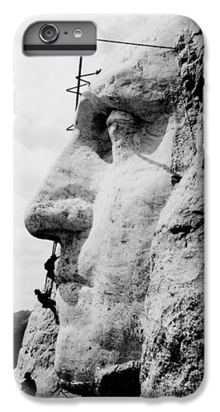 Mount Rushmore Construction Photo IPhone 6 Plus Case by War Is Hell Store