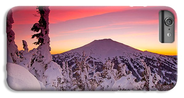 Mountain Sunset iPhone 6 Plus Case - Mt. Bachelor Winter Twilight by Kevin Desrosiers