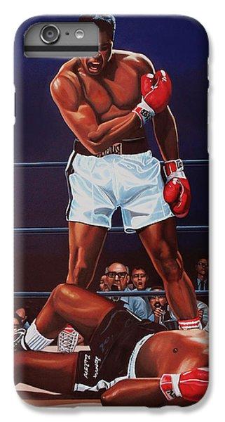 Portraits iPhone 6 Plus Case - Muhammad Ali Versus Sonny Liston by Paul Meijering