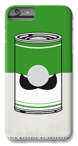 Vegetables iPhone 6 Plus Case - My Mario Warhols Minimal Can Poster-luigi by Chungkong Art