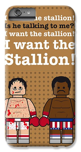 My Rocky Lego Dialogue Poster IPhone 6 Plus Case by Chungkong Art