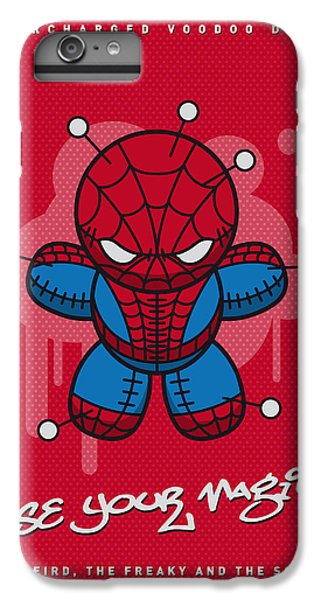 Spider iPhone 6 Plus Case - My Supercharged Voodoo Dolls Spiderman by Chungkong Art