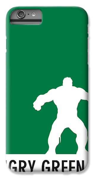 My Superhero 01 Angry Green Minimal Poster IPhone 6 Plus Case by Chungkong Art