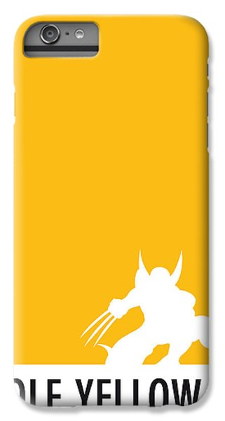 My Superhero 05 Wolf Yellow Minimal Poster IPhone 6 Plus Case by Chungkong Art
