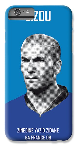 My Zidane Soccer Legend Poster IPhone 6 Plus Case by Chungkong Art