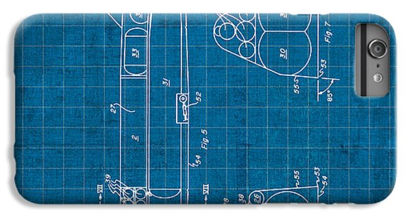 Nasa Space Shuttle Vintage Patent Diagram Blueprint IPhone 6 Plus Case by Design Turnpike