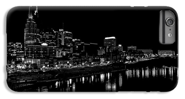Nashville Skyline At Night In Black And White IPhone 6 Plus Case by Dan Sproul
