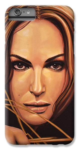 Swan iPhone 6 Plus Case - Natalie Portman by Paul Meijering