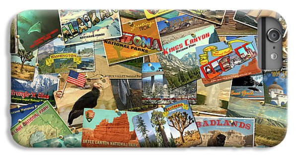 IPhone 6 Plus Case featuring the drawing National Parks by Garry Walton