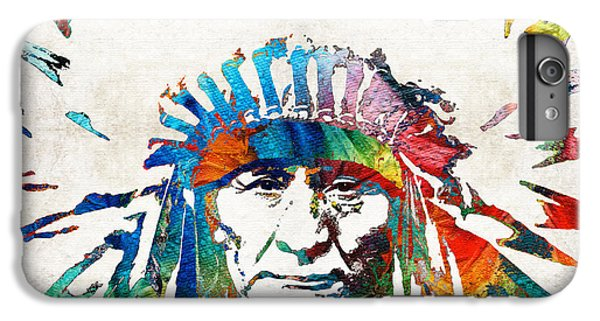 Native American Art - Chief - By Sharon Cummings IPhone 6 Plus Case by Sharon Cummings