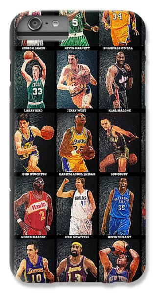 Nba Legends IPhone 6 Plus Case by Taylan Apukovska