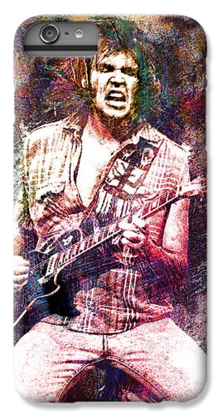 Neil Young Original Painting Print IPhone 6 Plus Case by Ryan Rock Artist