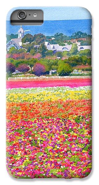 Pacific Ocean iPhone 6 Plus Case - New Carlsbad Flower Fields by Mary Helmreich
