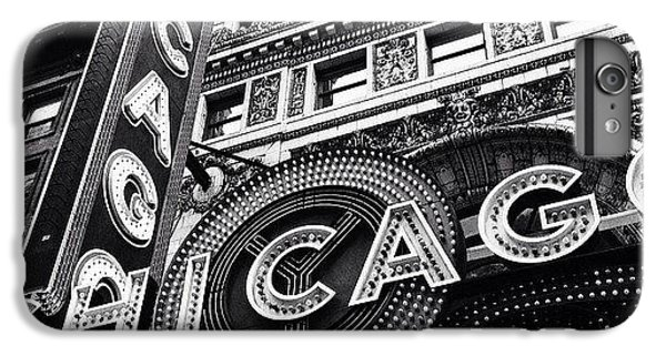 Architecture iPhone 6 Plus Case - Chicago Theatre Sign Black And White Photo by Paul Velgos