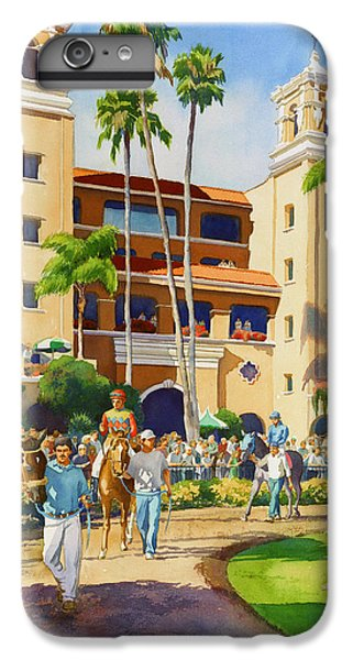 Planets iPhone 6 Plus Case - New Paddock At Del Mar by Mary Helmreich
