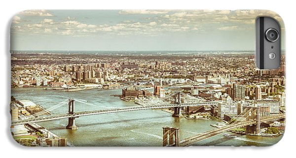 New York City - Brooklyn Bridge And Manhattan Bridge From Above IPhone 6 Plus Case by Vivienne Gucwa