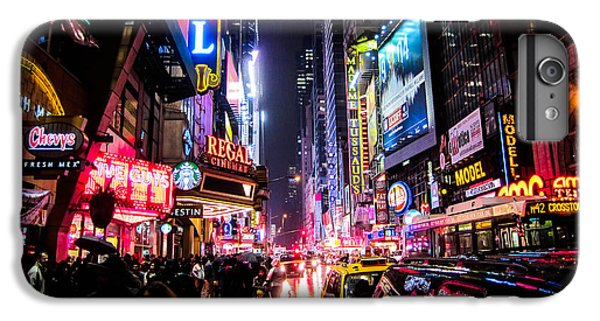 Times Square iPhone 6 Plus Case - New York City Night by Nicklas Gustafsson