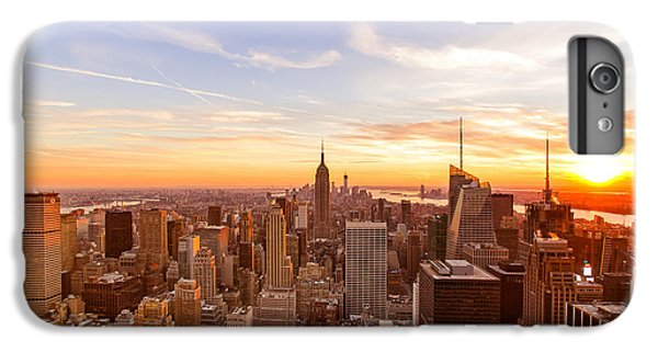 New York City - Sunset Skyline IPhone 6 Plus Case