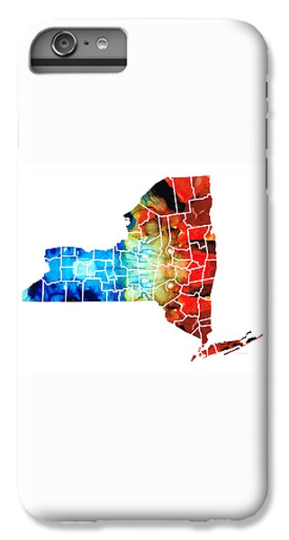 New York - Map By Sharon Cummings IPhone 6 Plus Case