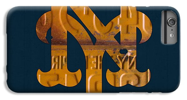 New York Mets iPhone 6 Plus Case - New York Mets Baseball Vintage Logo License Plate Art by Design Turnpike