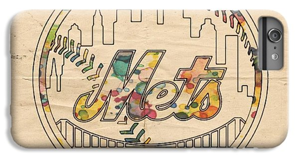New York Mets iPhone 6 Plus Case - New York Mets Poster Vintage by Florian Rodarte